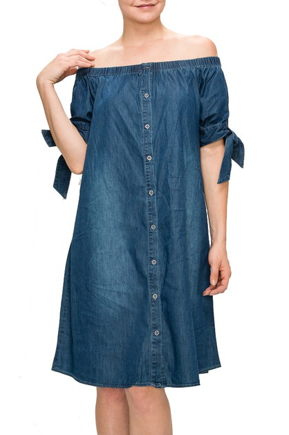 WOMENS DENIM CHAMBRAY OVER SHOULDER - orangeshine.com