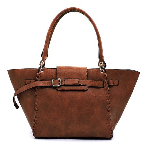 Fashion Belted Shopper - orangeshine.com
