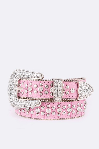 Kids Crystal Western Fashion Belt - orangeshine.com