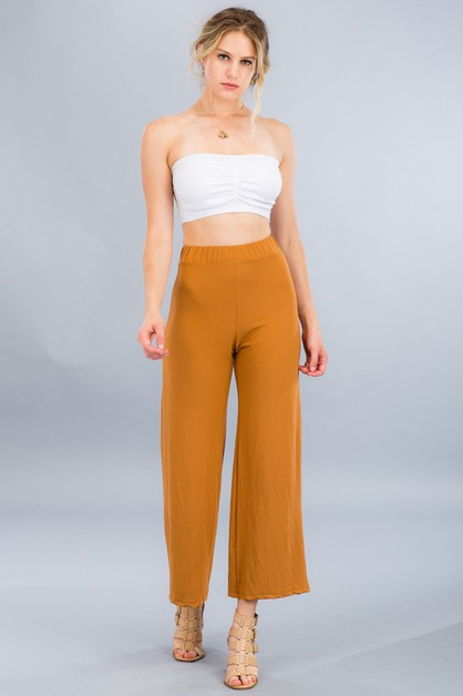 High-Waist Wide Leg Pants - orangeshine.com