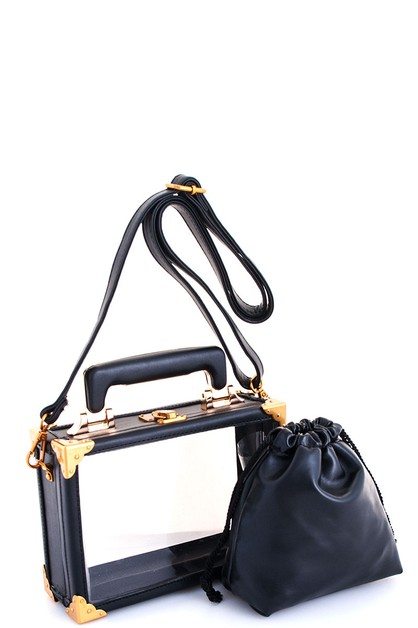 Chic Transparent Crossbody Bag - orangeshine.com
