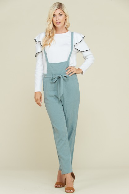 WAIST TIE POINT JUMPSUIT - orangeshine.com