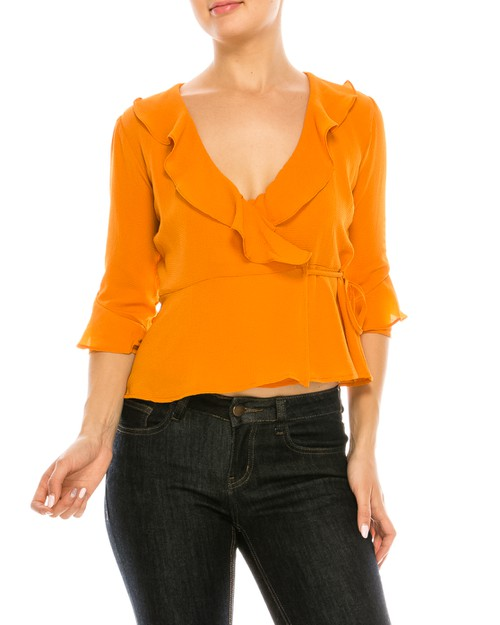 Ruffled Casual Top - orangeshine.com