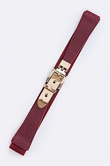 Metal Buckle Fashion Stretch Belt - orangeshine.com