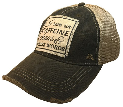 I Run On Caffeine Chaos Trucker Hat - orangeshine.com