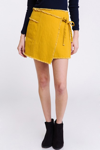 FREY WRAP TIE SKIRT - orangeshine.com