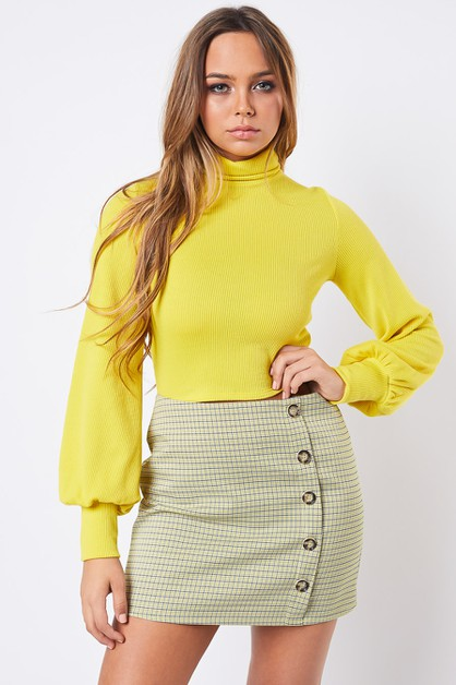 TURTLE NECK CROP TOP - orangeshine.com
