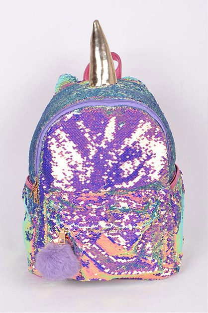 Iconic Sequins Unicorn Backpack - orangeshine.com