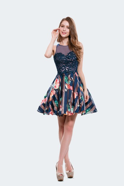 flower Printed dress - orangeshine.com