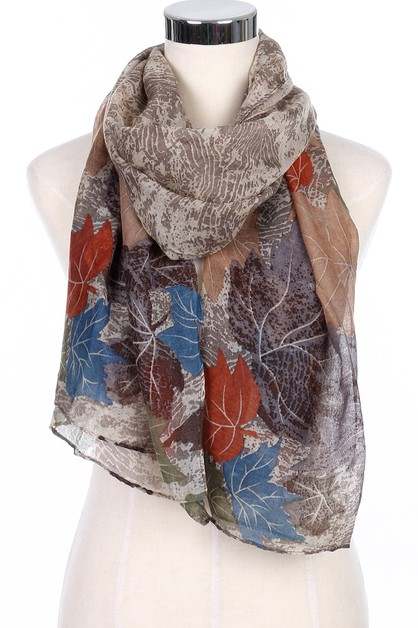 Leaves Print Scarves - orangeshine.com