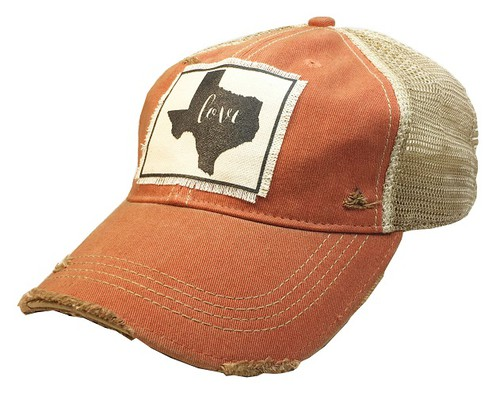 Texas Love State Trucker Hat - orangeshine.com