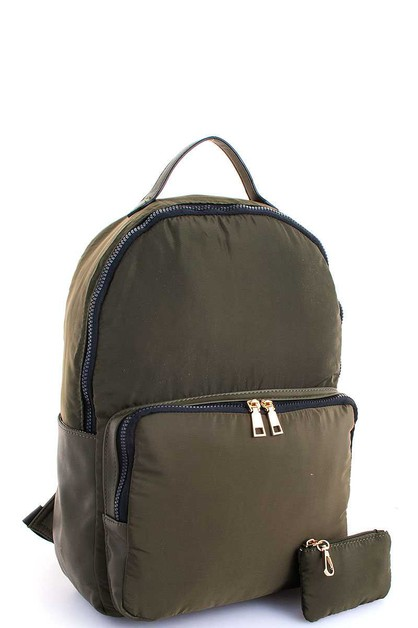 Chic Light Weight Canvas Backpack  - orangeshine.com