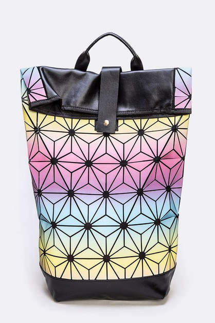 Geo Structure Fashion Backpack - orangeshine.com