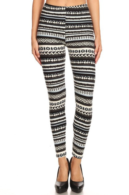 Christmas Print Plus Size Leggings - orangeshine.com