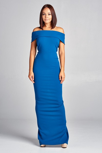 Off Shoulder Long Dress - orangeshine.com