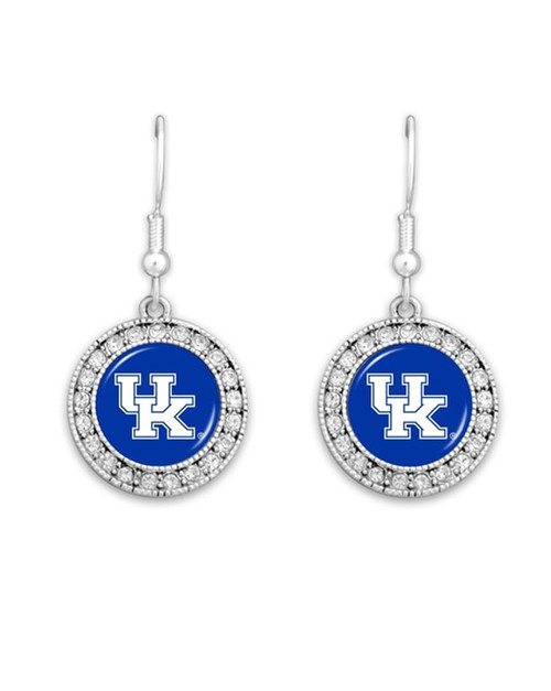 NCAA Kentucky Wildcat Earrings - orangeshine.com