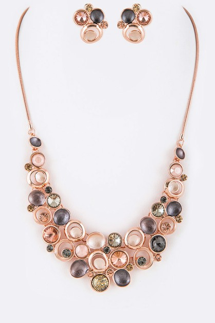 Mix Crystal Enamel Necklace - orangeshine.com