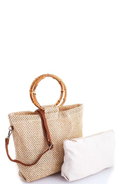Rough Woven Chic Tote  - orangeshine.com