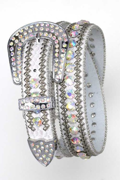 Crystal Stud Belt - orangeshine.com