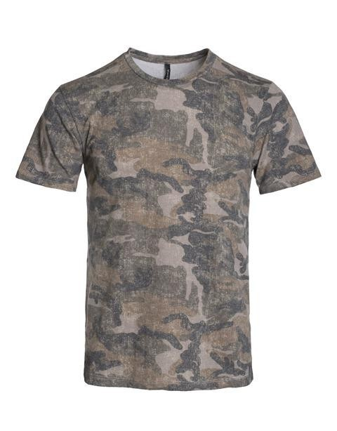 soft t shirt in camo print - orangeshine.com