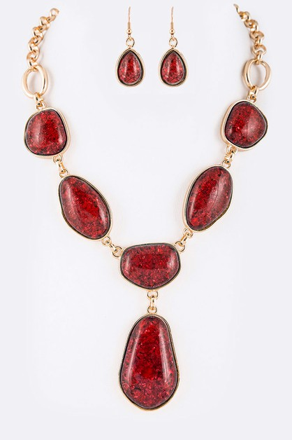 Mix Stone Iconic Statement Necklace  - orangeshine.com