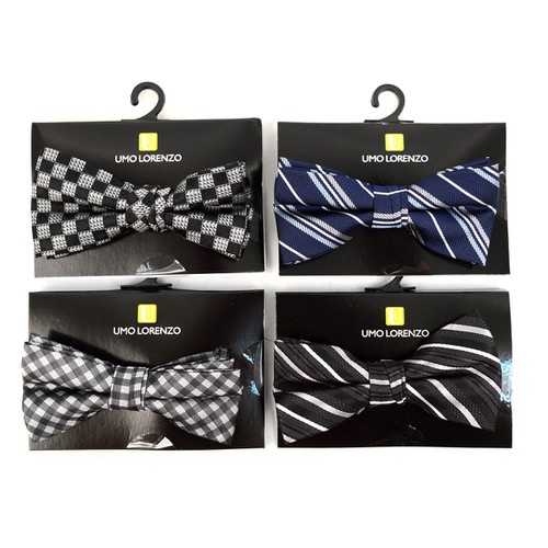 24pc Assorted Boy Banded Bow Ties - orangeshine.com