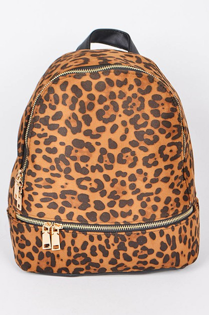 Leopard Print Iconic Backpack - orangeshine.com