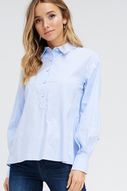 REVERSED HIGH-LOW BUTTON UP - orangeshine.com