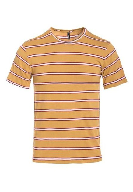 MENS STRIPED SHORT SLEEVE T SHIRT - orangeshine.com