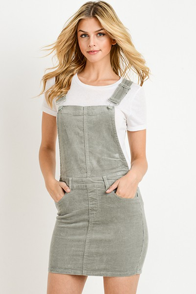 OVERALL CORDUROY MINI SKIRT - orangeshine.com