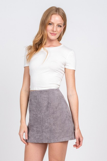 CORDUROY MINI SKIRT - orangeshine.com