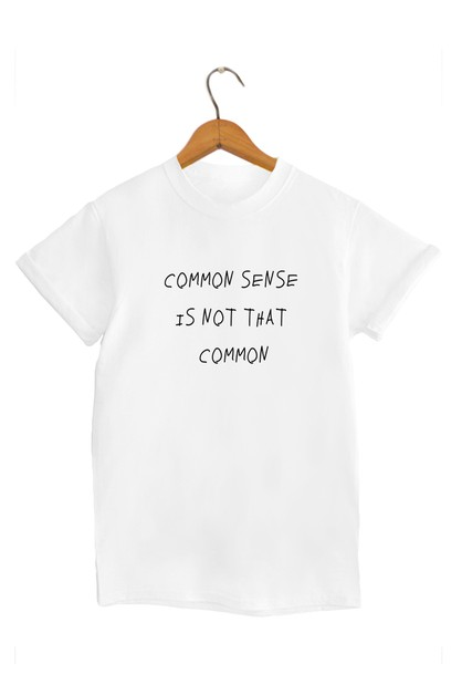 Common Sense Graphic Tee - orangeshine.com