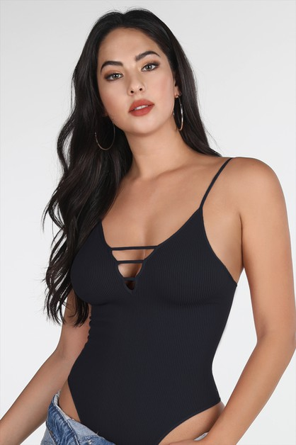 Ribbed Ladder Bodysuits - orangeshine.com