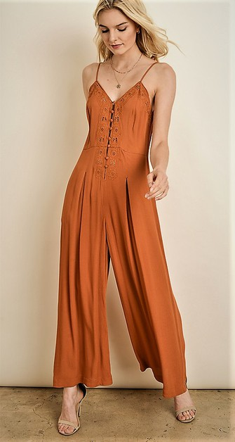EMBROIDERED JUMPSUIT - orangeshine.com