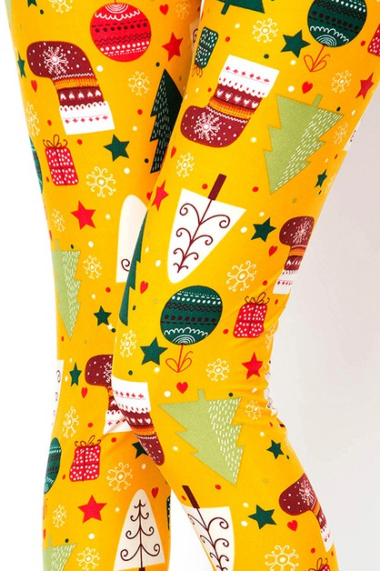 CHRISTMAS PRINT LEGGINGS - orangeshine.com
