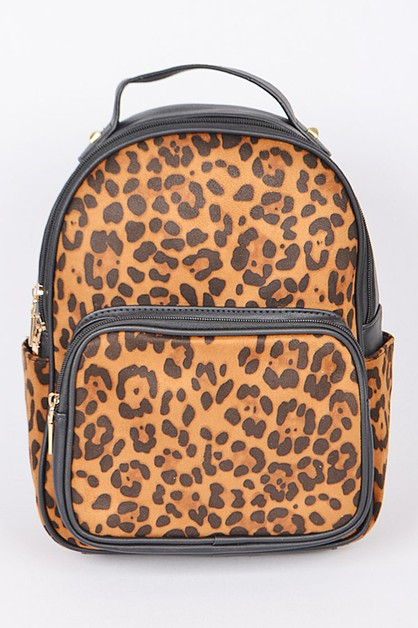Leopard Print Fashion Backpack - orangeshine.com