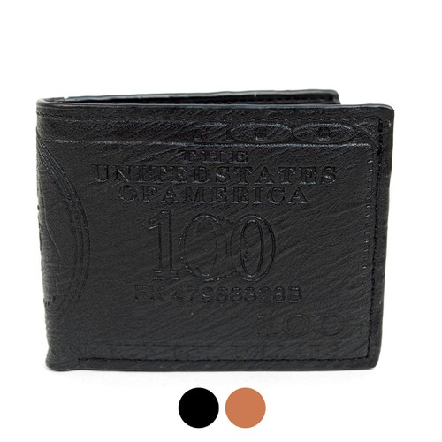 Bi-Fold Leather 100 Dollars Wallet - orangeshine.com