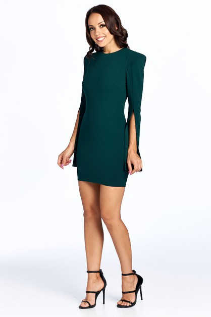 Long Sleeve Short Dress - orangeshine.com