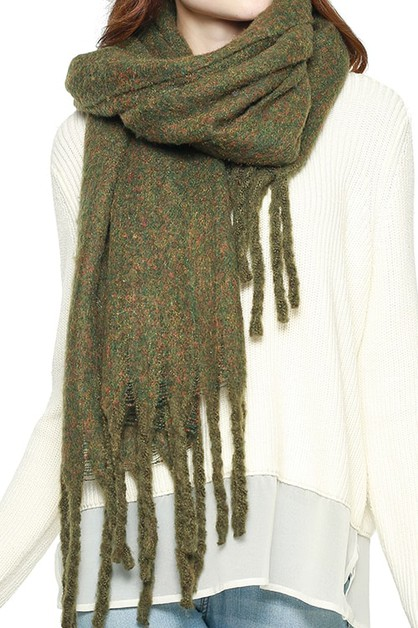 SOFT BRUSHED OVER SIZED SCARF  - orangeshine.com