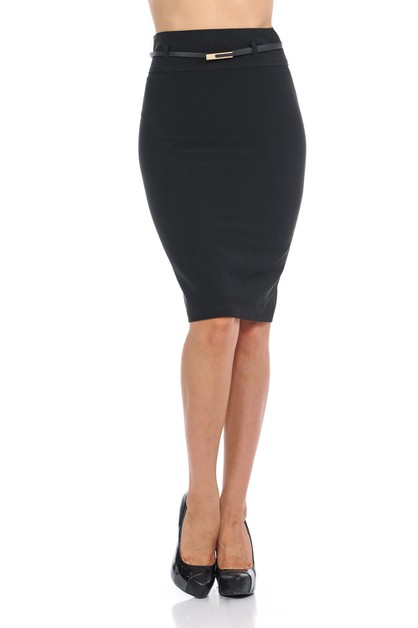 women basic work office pencil skirt - orangeshine.com