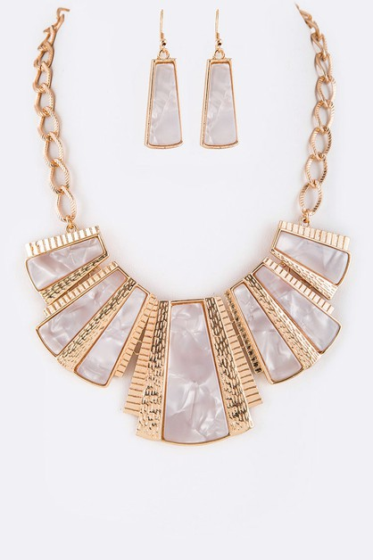Celluloid Mix Bib Statement Necklace - orangeshine.com
