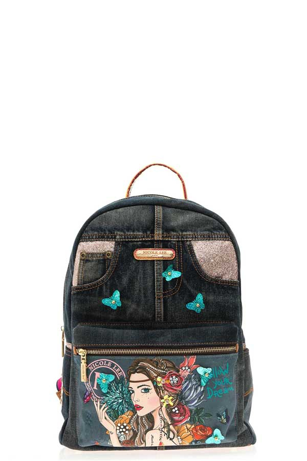 BOHEMIAN DENIM BACKPACK - orangeshine.com