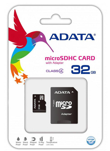 ADATA microSDHC Card with Adapter 32 - orangeshine.com