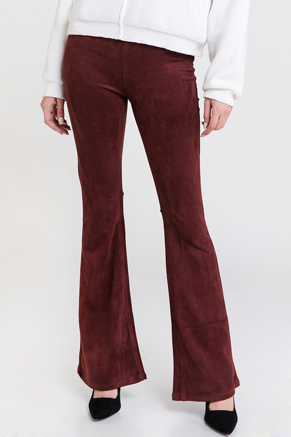 SUEDE BELL BOTTOM PANTS - orangeshine.com