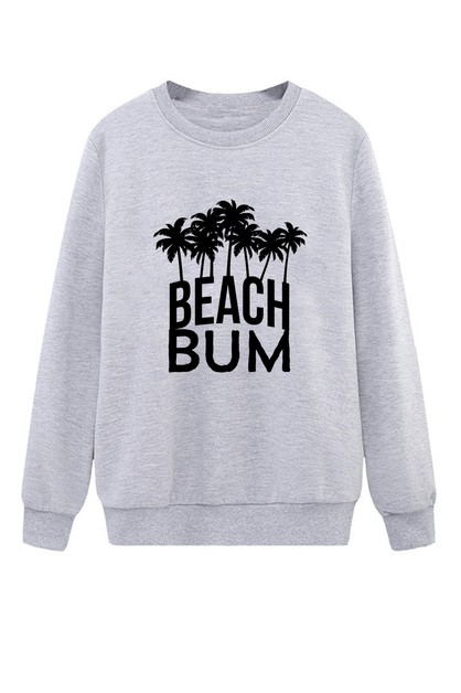 Beach Bum Crew Neck Sweater - orangeshine.com