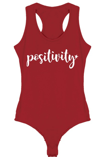 Positivity Printed Bodysuit - orangeshine.com