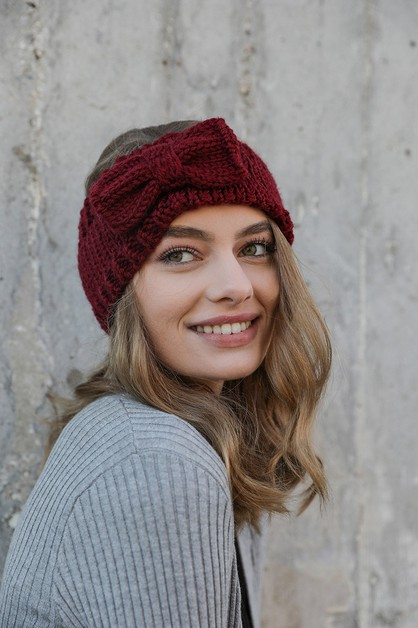 Bow Knit Headband - orangeshine.com