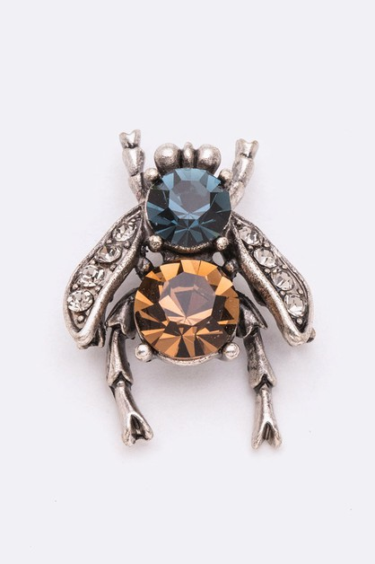 Crystal Iconic Fly Petite Brooch - orangeshine.com
