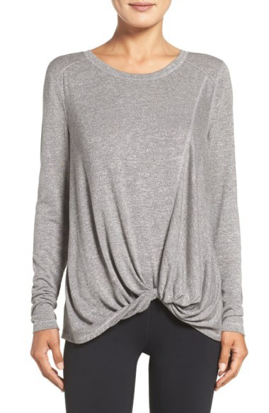 Twist Front Long Sleeves Top - orangeshine.com