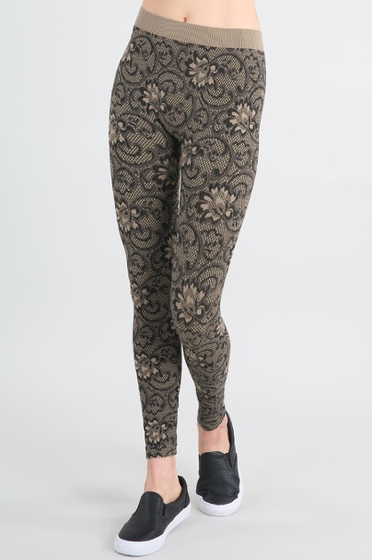 Floral Zacarrdi Long Leggings - orangeshine.com